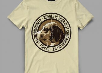 Dog Beagle T-shirt design