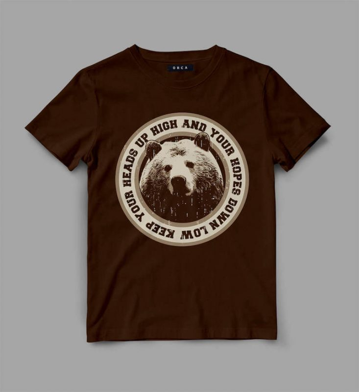 Bear Head Graphic tee design buy t shirt design