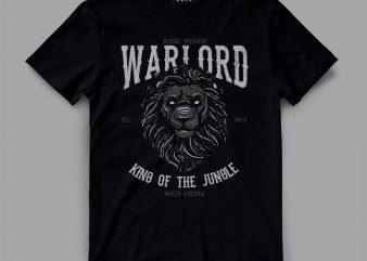 lion 2 warlord Graphic tee design buy t shirt design