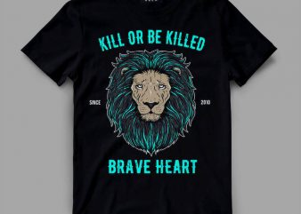 lion 3 braveheart Graphic tee design