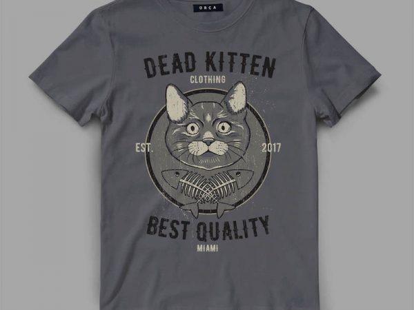 cat 1 deadkitten Graphic tee design