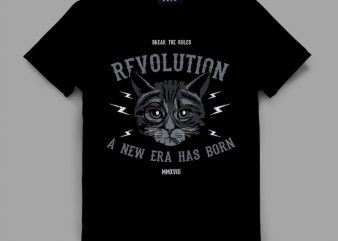 cat 2 revolt Graphic tee design