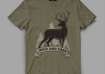 deer 2 rib Vector t-shirt design buy t shirt design