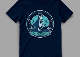 shark 1 anch Vector t-shirt design