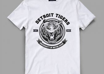tiger 3 detroit Vector t-shirt design buy t shirt design