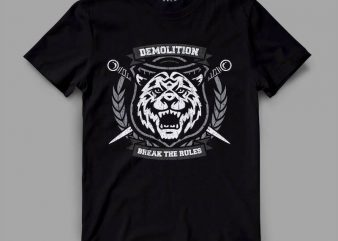 tiger 4 demo Graphic tee design buy t shirt design