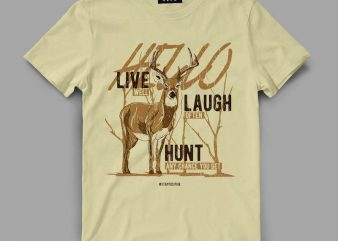 deer 3 livelaugh Graphic tee design buy t shirt design