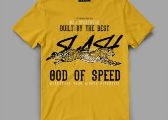 cheetah 1 slash Graphic tee design buy t shirt design