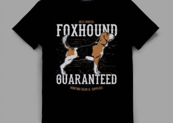 dog 4 foxhound Graphic tee design buy t shirt design
