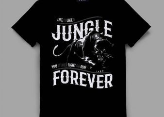 panther 2 jungle Vector t-shirt design