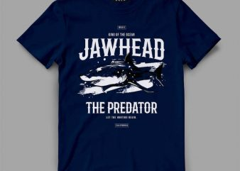 shark 2 jawhead Vector t-shirt design buy t shirt design