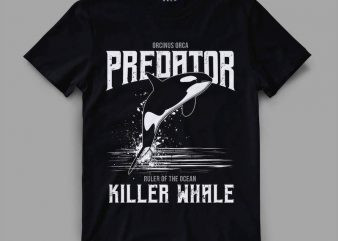 orca 1 predator Vector t-shirt design buy t shirt design