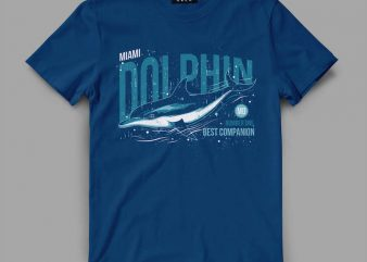 dolphin1 miami Vector t-shirt design buy t shirt design