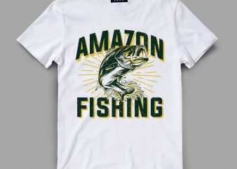 fish 3 fishing Vector t-shirt design