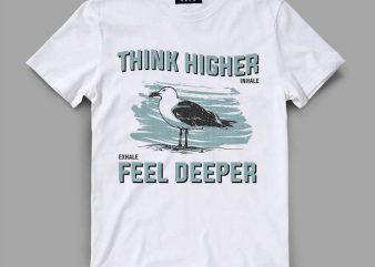 bird 3 think Vector t-shirt design