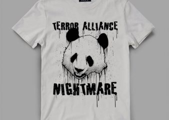 Panda Terror Vector t-shirt design