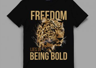 leopard bold Vector t-shirt design buy t shirt design