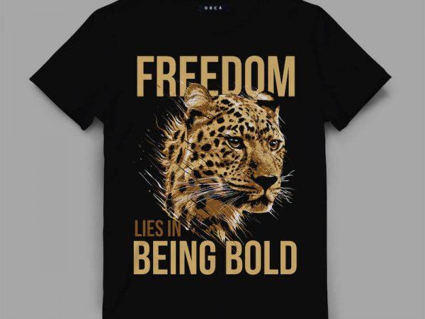 leopard bold Vector t-shirt design