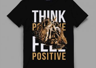 tiger 5 think Vector t-shirt design