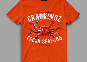 crab seafood Vector t-shirt design