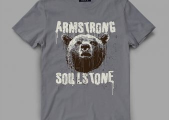bear 4 strong Vector t-shirt design buy t shirt design