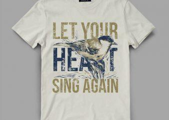 bird 5 sing Vector t-shirt design