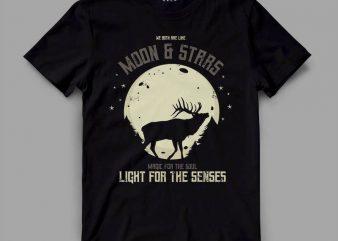 Deer Moon Vector t-shirt design buy t shirt design