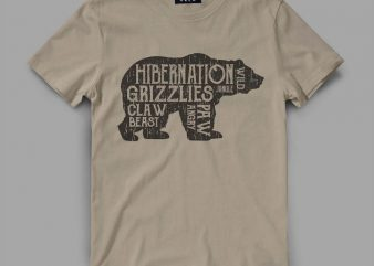 Bear Hiber Vector t-shirt design