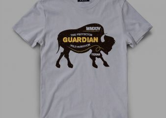 bison 1 guardian Vector t-shirt design