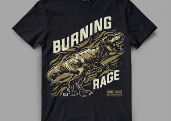 trex rage Vector t-shirt design buy t shirt design