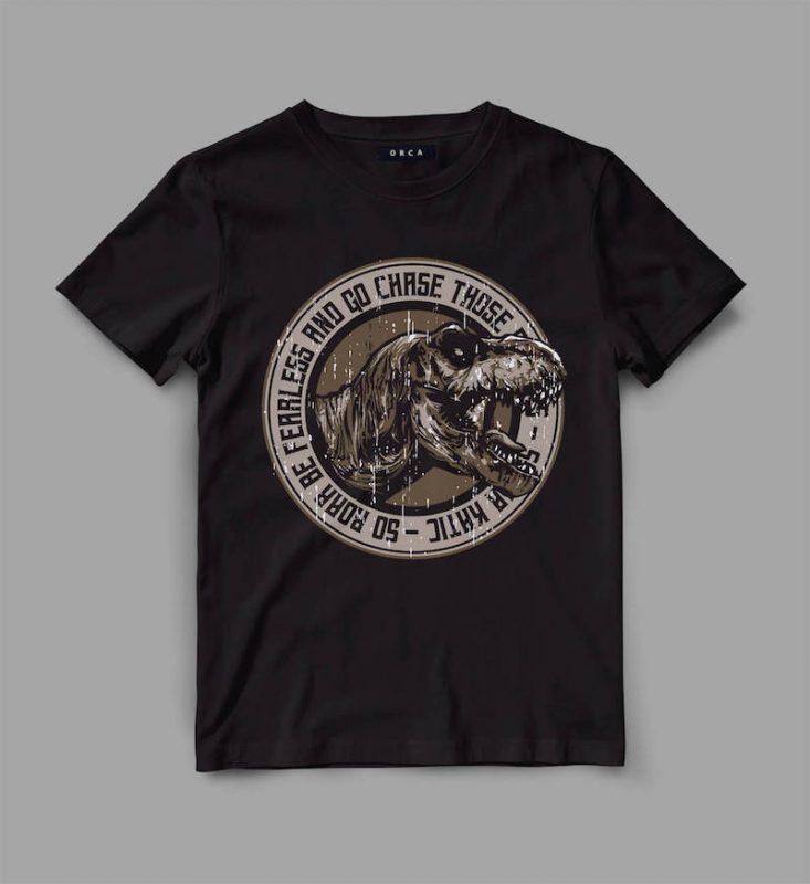 trex 3 roar Vector t-shirt design buy t shirt design