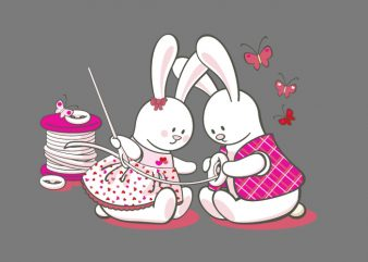 Bunny Love t shirt template