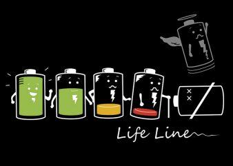 Battery Line t shirt template
