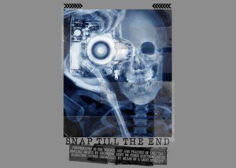 Skull Cam X-Ray t shirt template vector