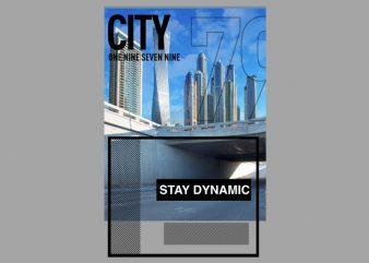 City Block t shirt vector file