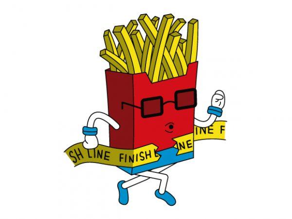 Fast Food t shirt graphic design
