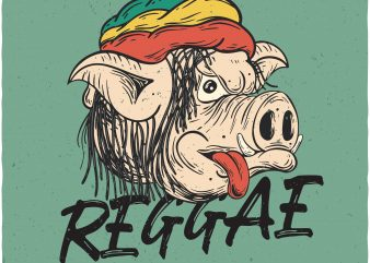 Reggae everyday. Vector t-shirt design buy t shirt design