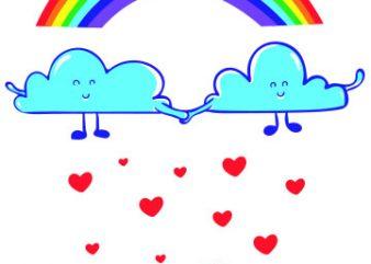 Clouds buy t shirt design