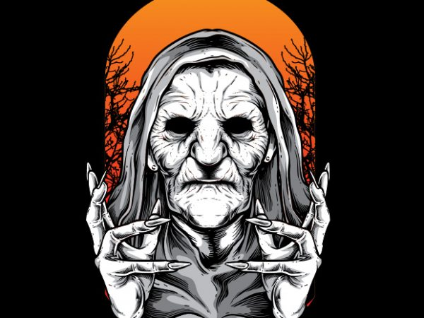 Witch buy t shirt design