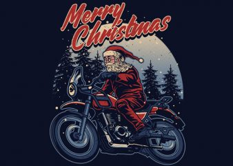 Santa Rider T-shirt Design buy t shirt design