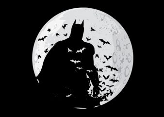 dark knight t shirt vector illustration