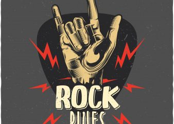 Rock rules. Vector T-Shirt Design buy t shirt design