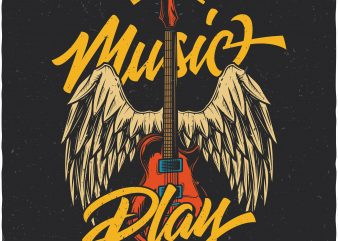 Let the music play. Vector T-Shirt Design buy t shirt design