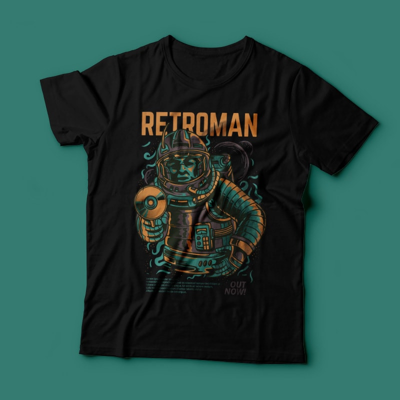 Retroman buy t shirt design