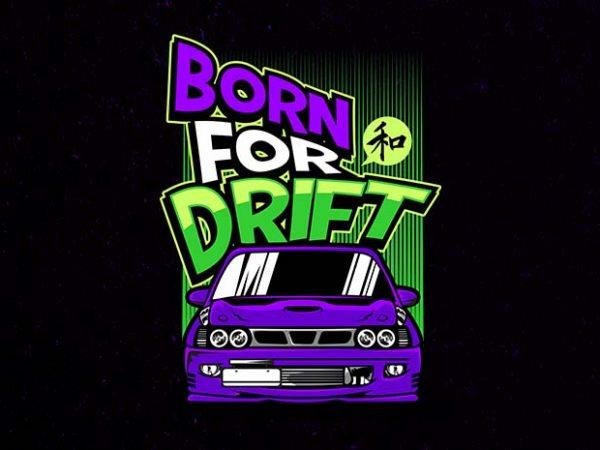 popular drifter t shirt illustration