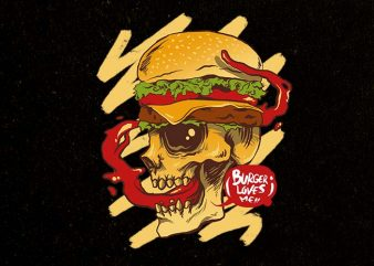 burger loves me buy t shirt design