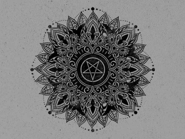 dark star t shirt vector illustration