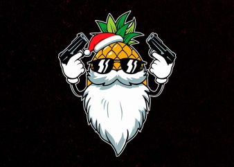 killer santa t shirt vector