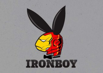 iron boy t shirt design for sale