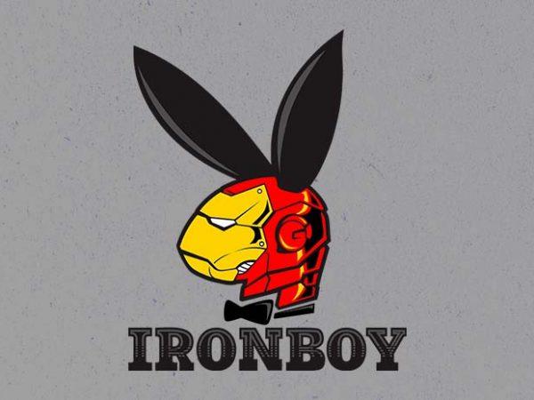 iron boy t shirt design for sale